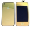 iPhone 4s LCD screen and glass back - GOLD Mirrored fitted service